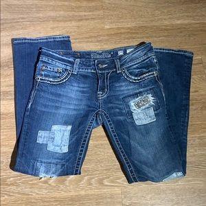 Miss Me Boot cut patchwork jeans